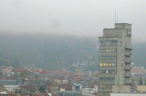 Alles grau in grau - so sieht es am Dienstag in Stuttgart aus. Foto: Leserfotograf hechi
