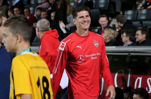 Mario Gomez erzielte den ersten Treffer für die Roten. Foto: Pressefoto Baumann