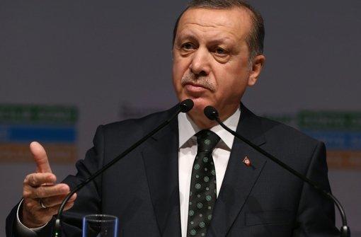 Staatspräsident Recep Tayyip Erdogan behauptet, die belgischen Behörden vor dem Attentäter gewarnt zu haben. Foto: Pool Presidential Press Service