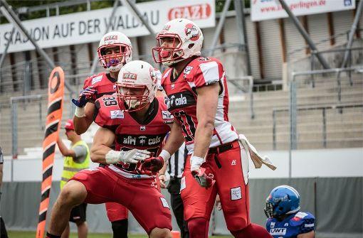 Die Stuttgart Scorpions gewinnen den irren Schagabtausch gegen die Allgäu Comets. Foto: Timo Raiser