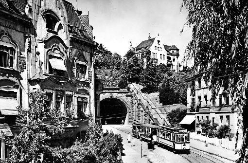 Schwabtunnel im Jahr 1926. Foto: Straßenbahnmuseum