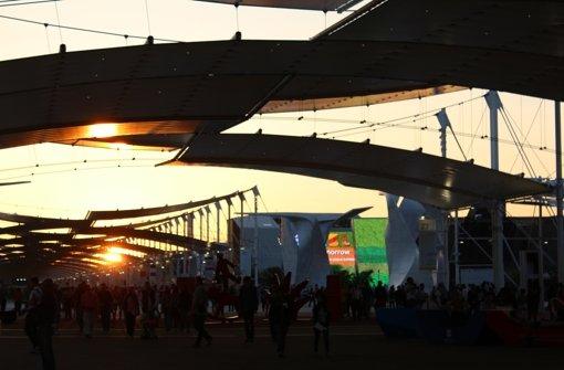 """Die diesjährige Expo steht unter dem Motto """"Feeding the Planet, Energy for Life"""" – """"Den Planeten ernähren, Energie für das Leben"""". Sie ist noch bis zum  31. Oktober in Mailand  zu sehen.  Foto: Melanie Maier"""
