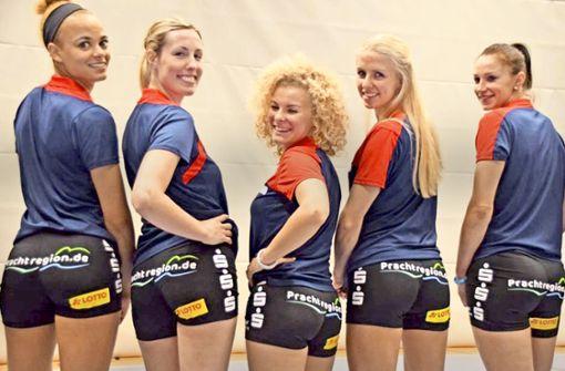 """Wegen der Po-Werbung mit dem Slogan """"Prachtregion.de"""" bei den Volleyballerinnen des VfB Suhl gingen beim Deutschen Werberat mehrere Beschwerden ein. Foto: LRA Schmalkalden-Meiningen"""