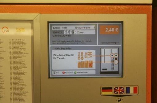 Störungen bei Fahrscheinautomaten
