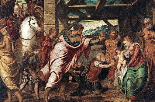 "Jacopo Tintoretto: ""Die Anbetung der Könige"", um 1537/38, Öl auf Leinwand, 174 x 203 cm Foto: Museo Nacional del Prado"