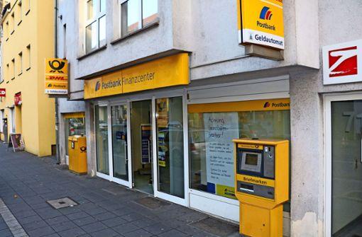 Postbank-Filiale schließt