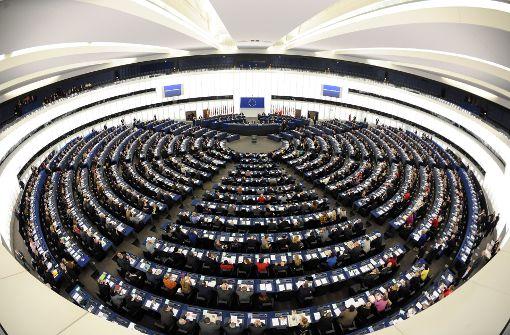 Europaparlament: Keiner der Kandidaten für das Amt des Präsidenten hat in der ersten Wahlrunde die notwendige absolute Mehrheit erzielt. Foto: dpa