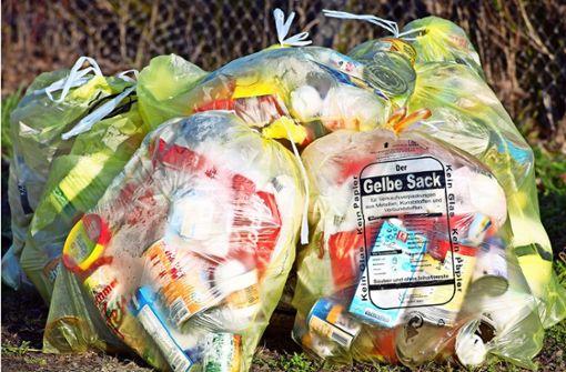 Gelbe Säcke können Müllsünder bis zu 500 Euro kosten