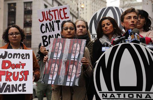 Frauen demonstrieren gegen alle Weinsteins dieser Welt. Foto: Getty