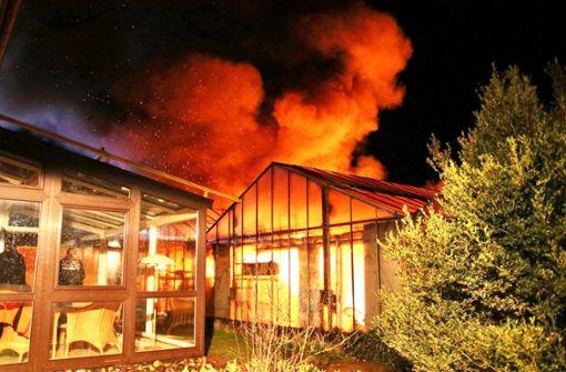 Brandstiftungs-Vorwurf nach Großbrand