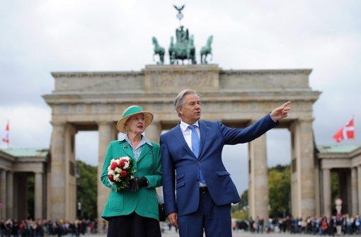 Margrethe II. besucht Klaus Wowereit