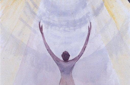 """Nahtod-Erlebnis: """"Der Tod: Flug in Richtung des Lichts"""", Gemälde   von Stefan von Jankovich. Foto: Drei-Eichen-Verlag"""