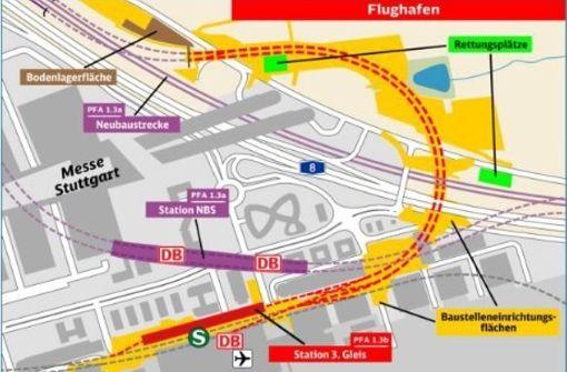 Bahn informiert über  die Verkehrsdrehscheibe Filder