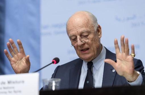 UN-Sondergesandte de Mistura trifft Syrien-Delegation