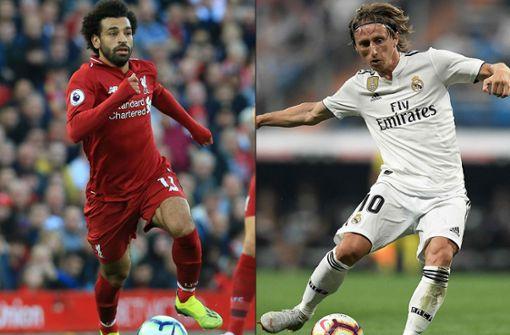 Luka Modric und Mohamed Salah konkurrieren mit Cristiano Ronaldo