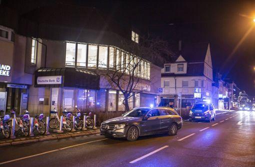 Polizei vereitelt möglicherweise geplanten Bankraub