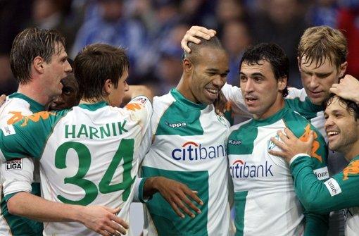 Von 2006 bis 2009 spielt der Mittelstürmer (2.v.l.) bei Werder Bremen. Mit nur 17 Spielen fehlt Harnik die Spielpraxis ... Foto: dpa