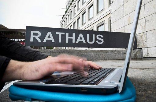 Im Juni soll es losgehen: Freier Zugang zum Internet an ausgewählten Punkten in der Stuttgarter Innenstadt Foto: Max Kovalenko