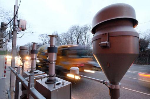 Die Messstation am Neckartor. Foto: dpa