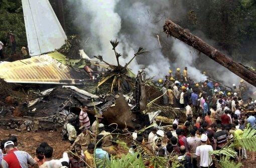 Indischer Passagierjet verunglückt