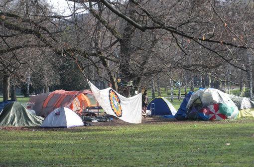 Parkbesetzer lassen Zelte stehen