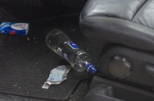 Die Frau hatte mehrere kleine Wodkaflaschen in ihrem Auto liegen. Foto: 7aktuell.de/Oskar Eyb