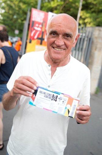 Hannover-96-Präsident Martin Kind kam ebenso zum Rolling-Stones-Konzert in Berlin wie ... Foto: dpa