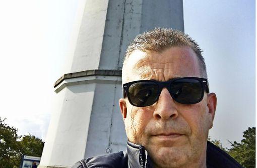 Matthias Helisch  auf Hiddensee kurz vor seinem Herzinfarkt Foto: mh