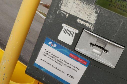 F3 setzt geplante Parkgebühr vorerst aus