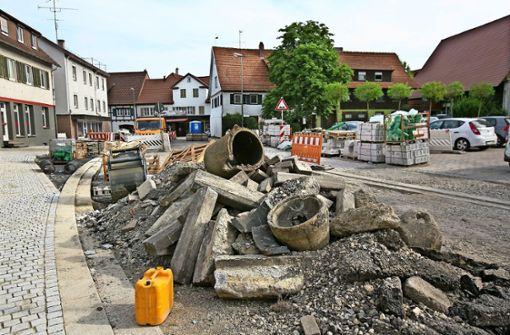 Bürger wegen Baustelle verärgert