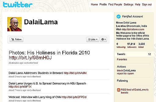 Der Dalai Lama twittert