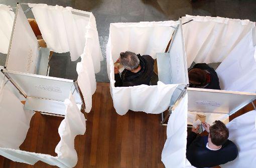 Wahlbeteiligung liegt knapp unter der von 2012