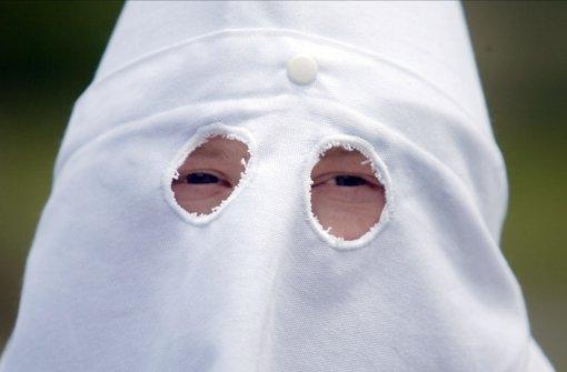 Mitglied des Ku-Klux-Klans in den USA.  Foto: AP