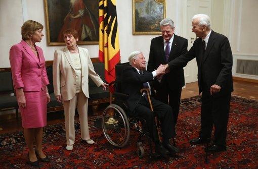 Helmut Schmidt zu Gast bei Gauck
