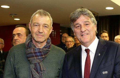 Karl Allgöwer und Präsident Bernd Wahler Foto: Pressefoto Baumann