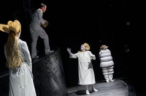 """Szene aus Lilja Rupprechts """"Amerika""""-Inszenierung am Schauspiel Stuttgart Foto: JU"""
