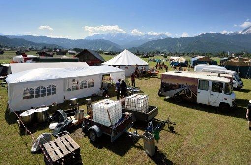 Protestcamp in Garmisch füllt sich