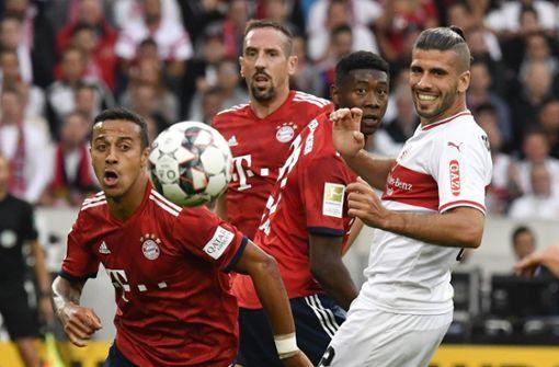Es ist das 101. Duell des VfB Stuttgart und des FC Bayern München. Foto: AFP