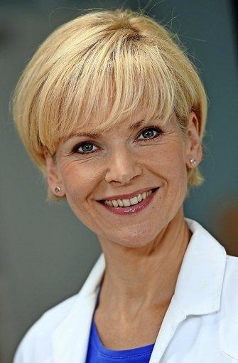 """... Andrea Kathrin Loewig. Sie ist bekannt aus der Serie """"In aller Freundschaft"""".  Foto: dpa-Zentralbild"""