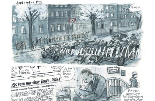 """Geschichte trifft Comic: Die Machtergreifung Hitlers, wie sie Barbara Yelin in """"Irmina"""" zeigt  Foto: Yelin"""
