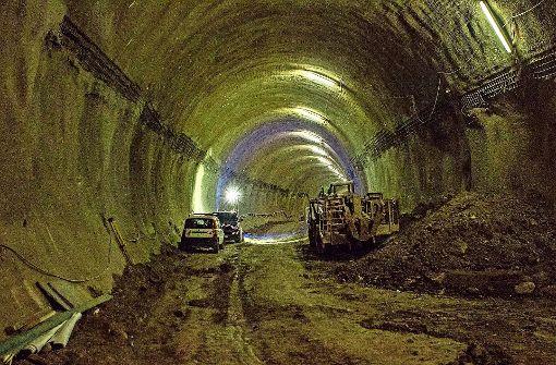 Der Bau des Rosensteintunnels: In die Innenwände werden Wärmetauscherleitungen gelegt – Teil einer Geothermieanlage, die in der Wilhelma heizen soll. Foto: 7aktuell.de/Andreas Friedrichs