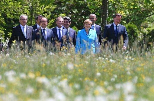 G7-Gipfel geht in den zweiten Tag