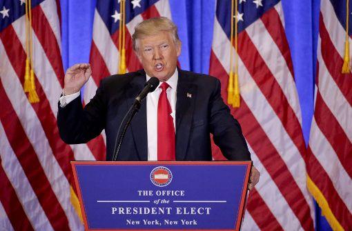 Donald Trump stellt die Verantwortung von Russland für die Hacker-Angriffe nicht mehr in Frage. Foto: AP