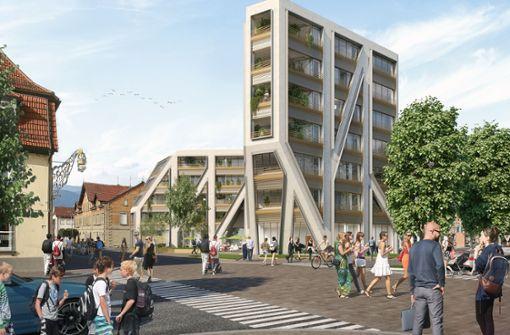 Der Sieger: Pfleiderer-Projektbau setzt auf das markante Design des Berliner Architekten Jürgen Mayer H., der aus Winnenden stammt. Foto: Pfleiderer