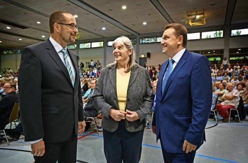 Michael Scharmann, Helga Hohmann und Alexander Bauer (von links) stellen sich am Sonntag zur Wahl. Foto: Archiv/Stoppel
