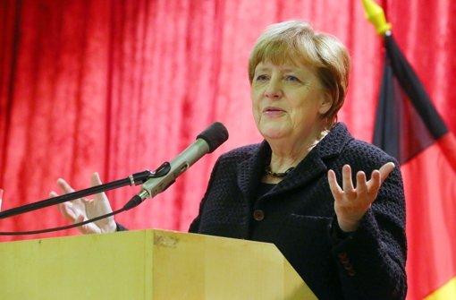 Sie will Kurs halten – Bundeskanzlerin Angela Merkel hat nicht vor, sich dem Druck aus den Reihen der Fraktion zu beugen. Foto: dpa-Zentralbild