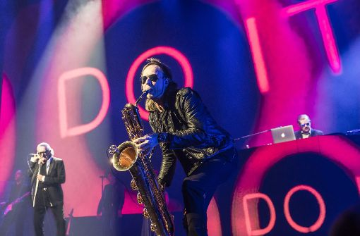 Begleitmusiker waren auch dabei, aber von untergeordneter Bedeutung  Foto: Lichtgut/Julian Rettig