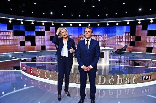 Hartes TV-Duell vor Schicksalswahl in Frankreich