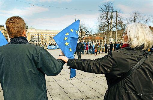 Eine Menschenkette für Europa