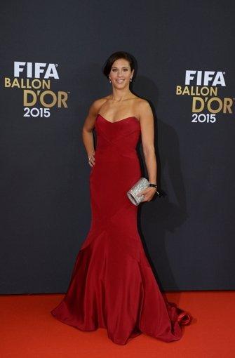 Carli Lloyd, Weltfußballerin 2015 Foto: dpa
